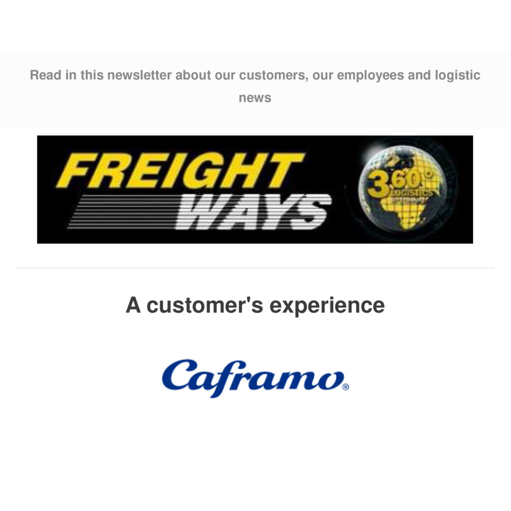 In the Media Freightways newsletter - May 2018